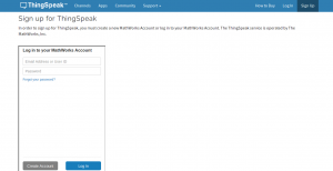 ThingSpeak LogIn